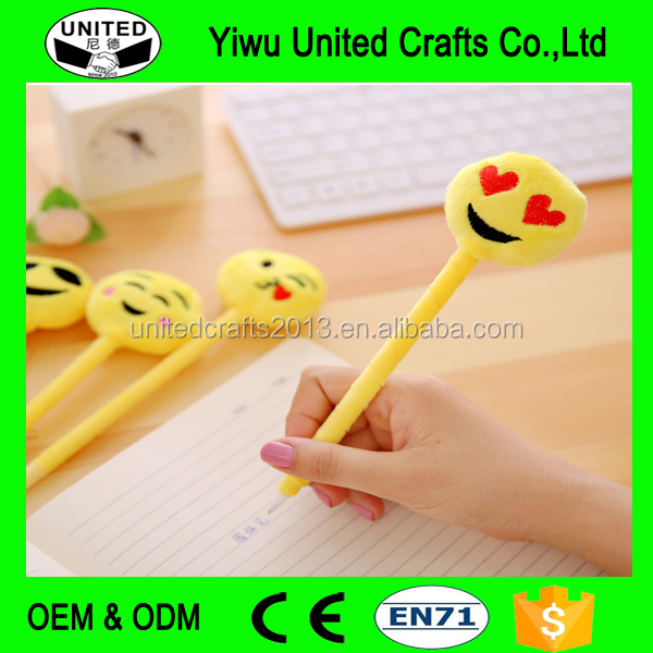 Cute Cartoon Ball Point Pen Ballpoint emoji Creative Stationery Random Color