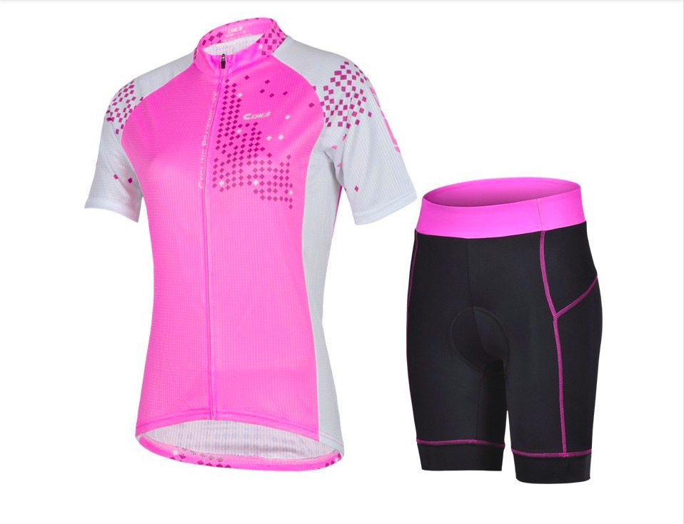 2015 CHEJI Pro team women cycling jersey set bicicleta mountain bike jersey ropa ciclismo Bicycle Clothing cycling bib shorts