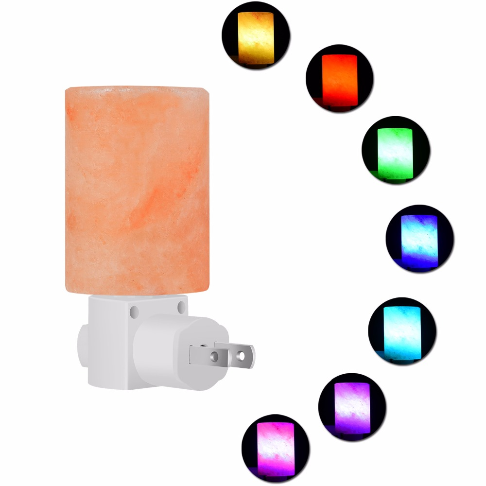 Colored Night Light Himalayan salt lamp importers supports OEM