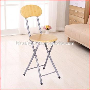 Small lightweight round folding stool with back support Modern metal folding chair Portable folding stool & Small Lightweight Round Folding Stool With Back Support Modern ... islam-shia.org
