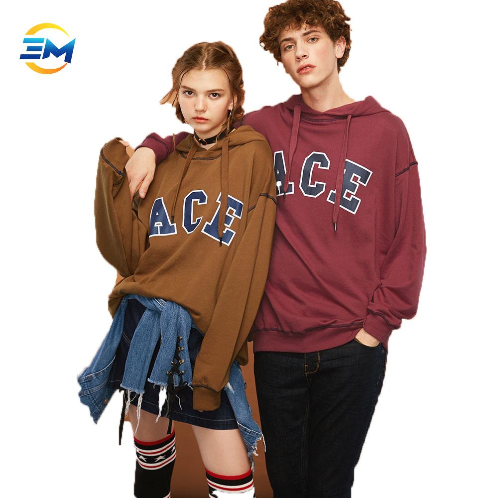 2018 Gaya Baru Longgar Cetak Huruf Pasangan Hoodies Sweater Musim Dingin  Penjualan Online 53993e713b