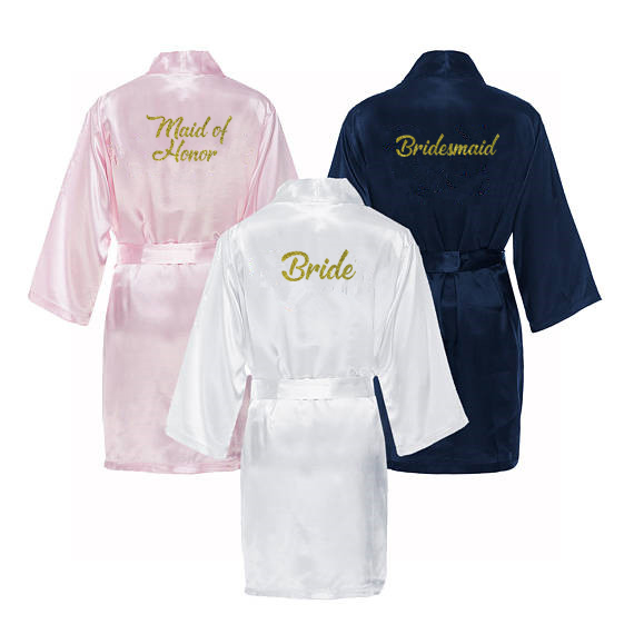 C&Fung Maid of Honor bridesmaid robes personalized matching robes