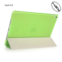 HUYSHE Foldable Leather PU Case Ultra Thin Smart Cover+ Clear Back Case for Ipad Air 2