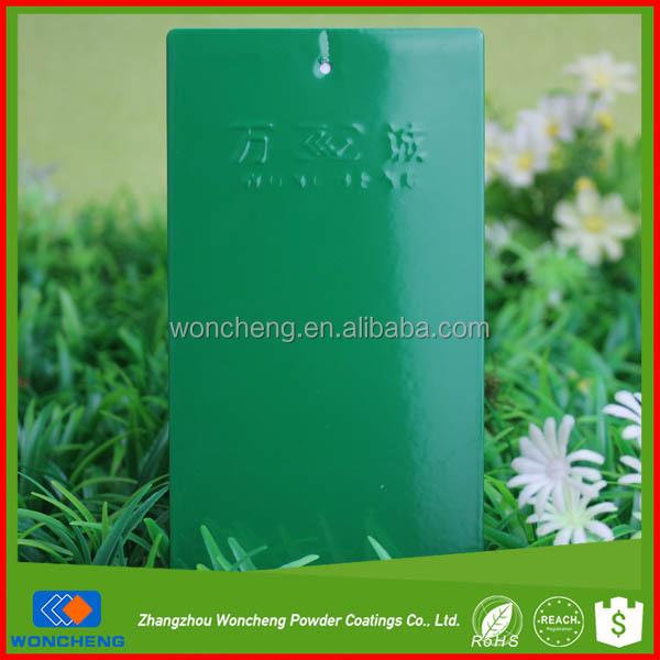 인기있는 부드러운 열경화성 정전기 민트 녹색 페인트 색상 ...