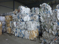 PP used big bags in bales, plastic wastes