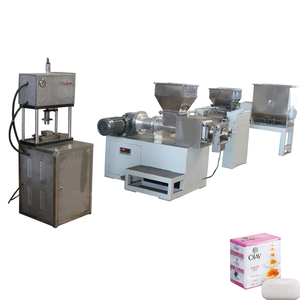 ZT - 100 Toilet Soap Production Line with semi-automatic way for small scale soap manufacturing