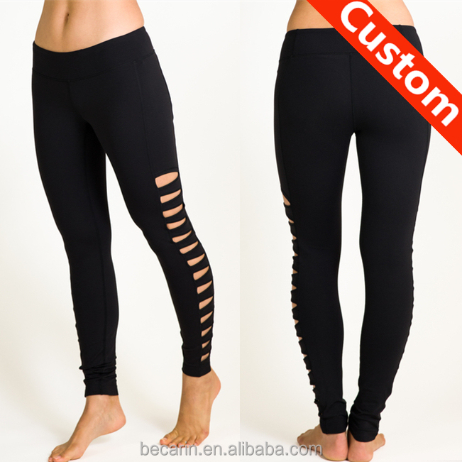 sexy black cut out yoga pants leggings womens yoga wear workout clothing