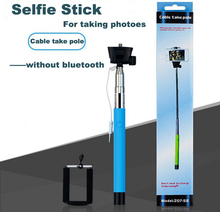 Original z07-5s wired extendable selfie stick designed universal self monopod camera photos pau de selfie tripod for smartphone