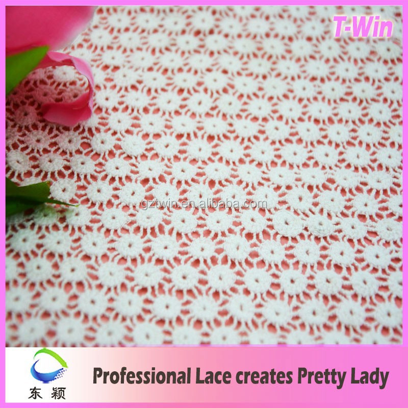 New Chemical Lace Cotton/Hot Garment Fabric/Organic Cotton Embroidery Lace For Bridal Lace Dress