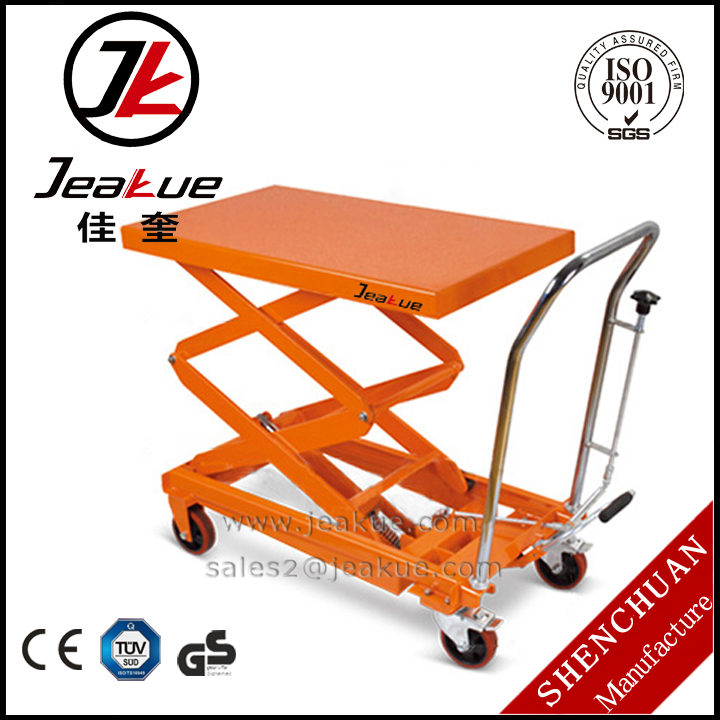1000kg Overloading Protection Pedal Lifting Popular Double Scissors Portable Lift Table
