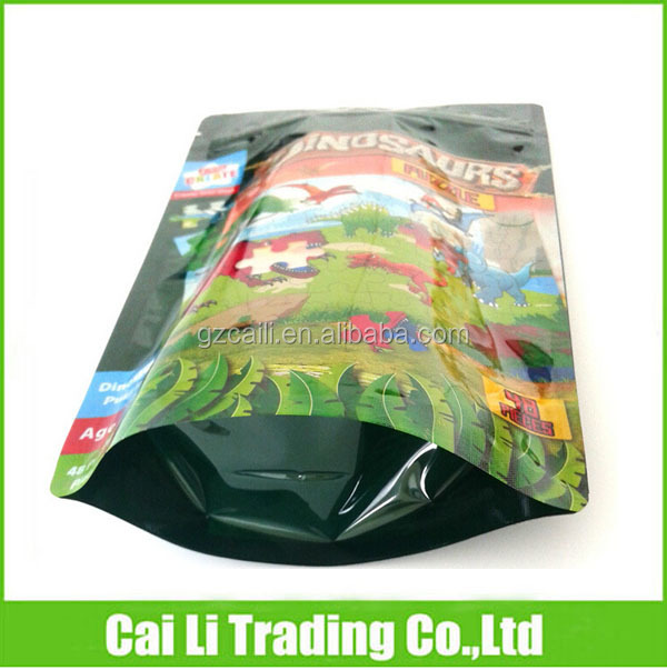 factory price zip on top gift packaging plastic bag bottom gusset