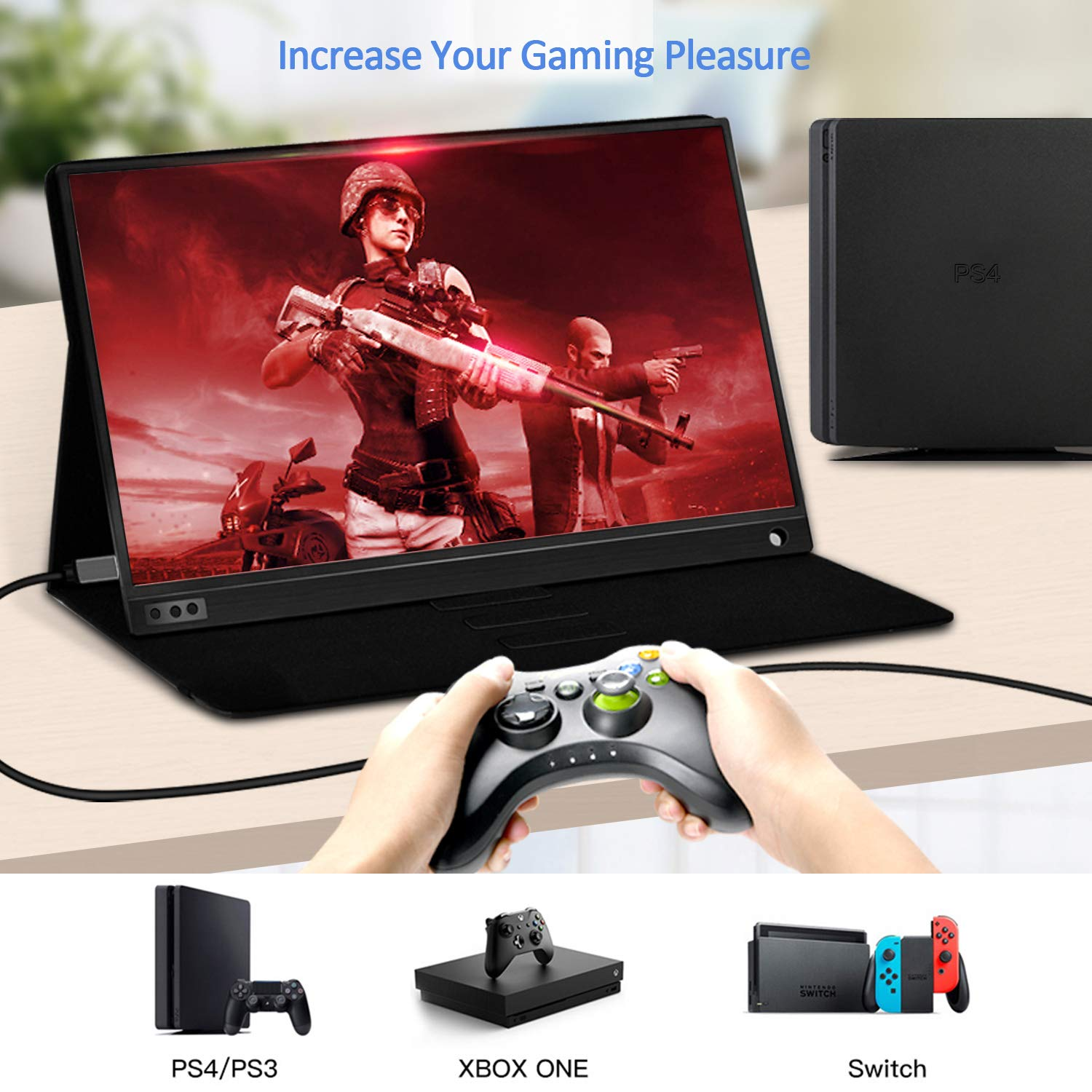 SSA 15.6 utral-thin IPS screen portable monitor for laptop PS4 PS3  gaming monitor with thunderbolt 3.0 /usb 3.0