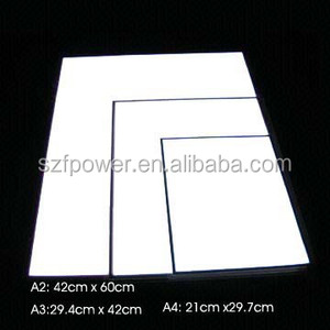 High Brightness Flashing Electronic Luminescent Backlight Sheet/ EL Panel for Book Suit