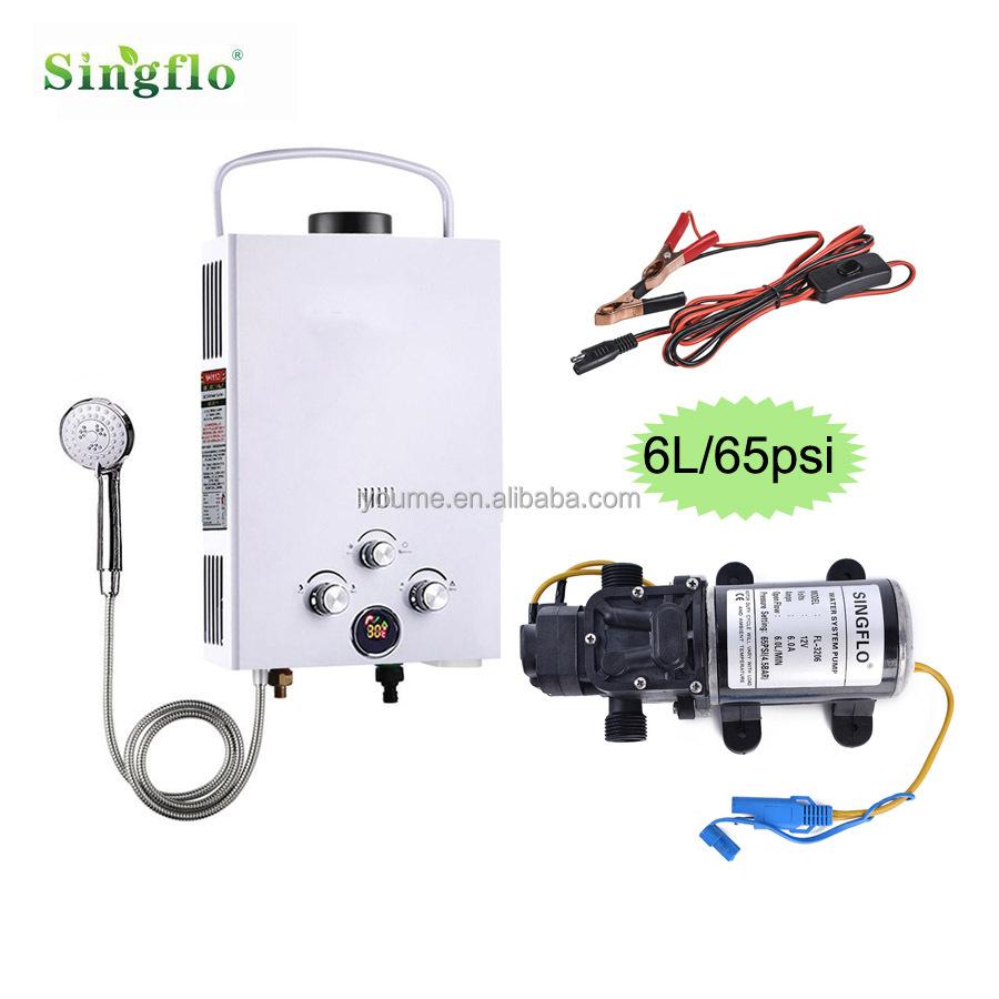 hot sale 6l portable water heater with singflo diaphragm 12v pump rh alibaba com