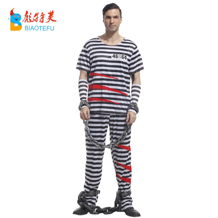 halloween carnival blood prisoner cosplay costume