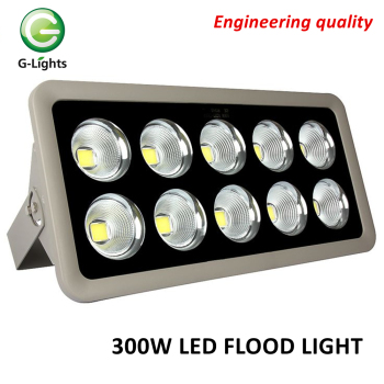 Aluminium outdoor waterproof gas station IP65 projector lamp cob 300w led flood light