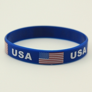 2018 World Cup Country Flags Hand Bands Rubber Wristband Silicone Bracelet