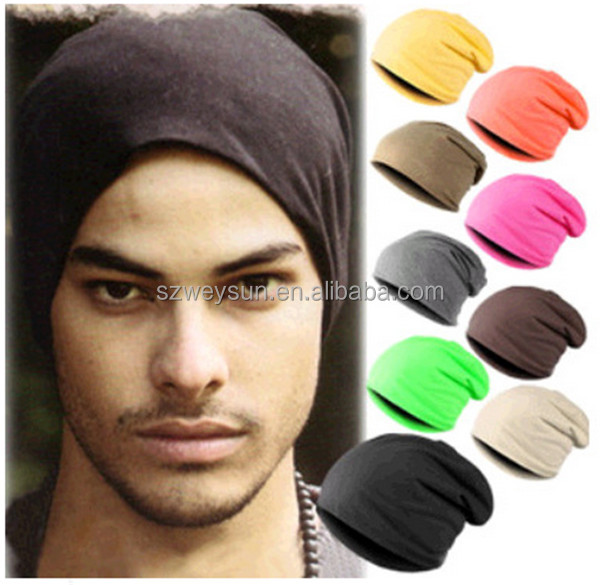Casual Polyester men's hats knit knitted hats mens crochet beanies ski caps