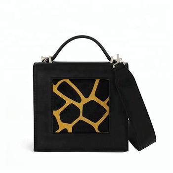 2018 New Arrivals Tote Bag Black Fashion Short Handle Unique Leather Shoulder Handbag