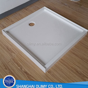 New Zealand/Australia fiberglass shower base with high flange/lips on three sides