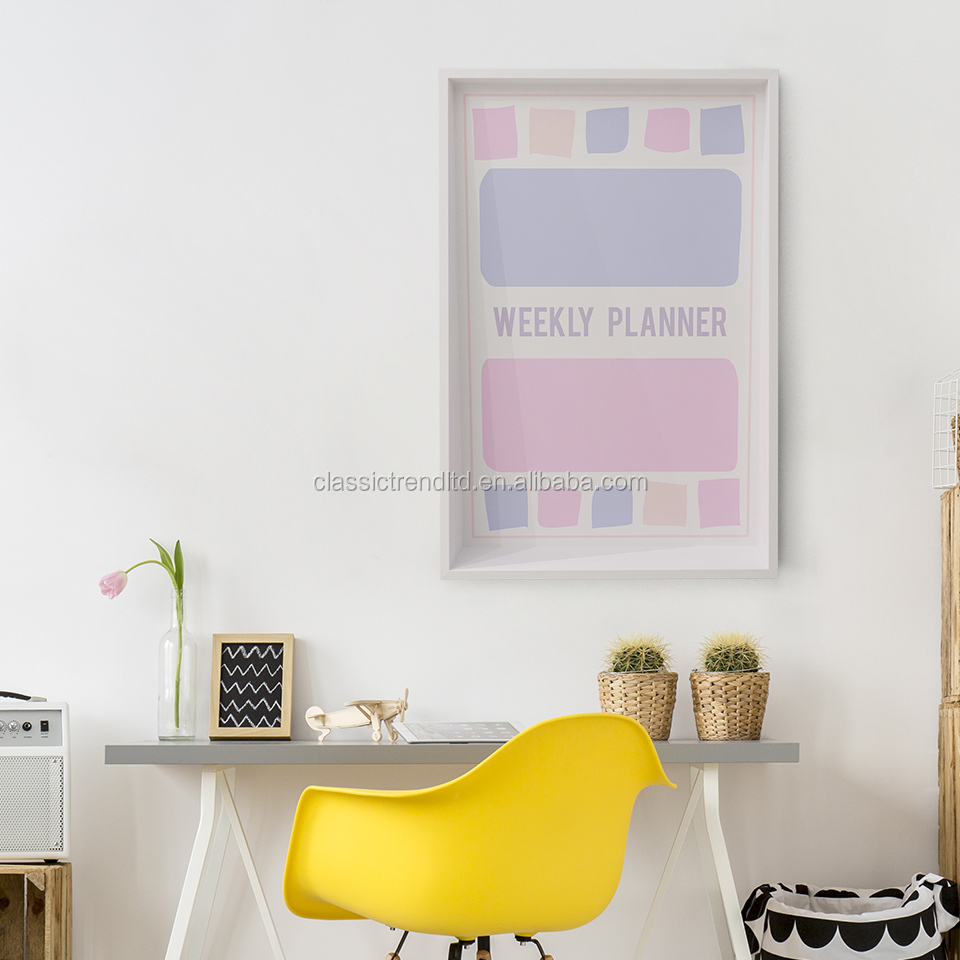 Colorful weekly planner message board whiteboard for sale