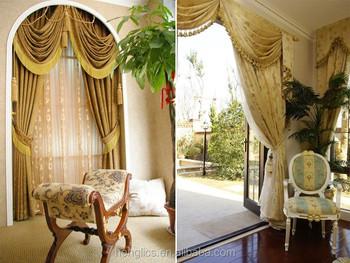 automatische luxe gordijnen jacquard verduisterende klare hotel gordijnen