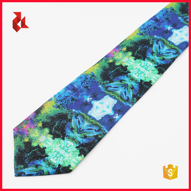 Mens Colorful 100% Silk Printed Ties