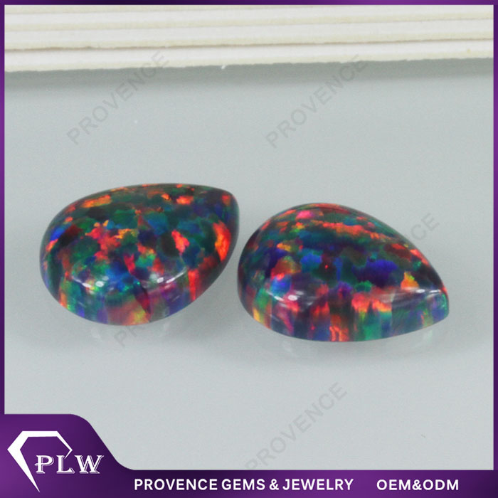 Wholesale Price Pear Shape Synthetic Black Opal Mining