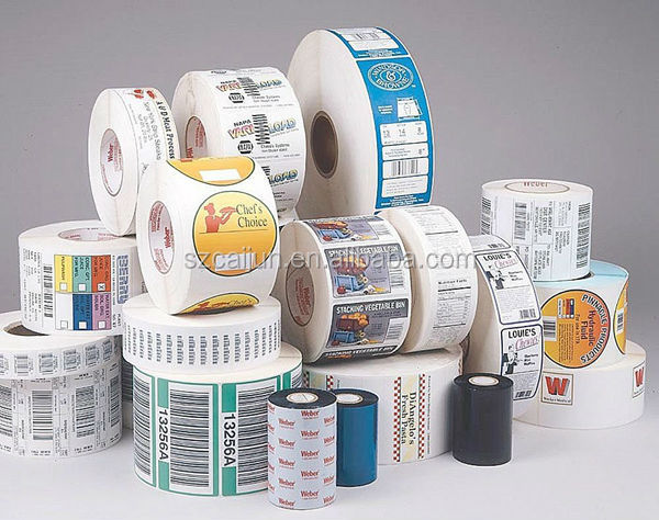 Customized roll barcode label sticker printing