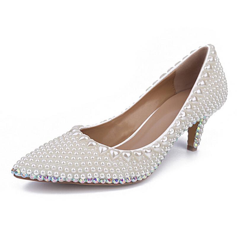Ivory Women Shoes Kitten Heel