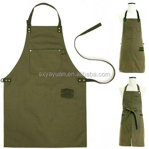 Wholesale cheap waterproof striped design waxed canvas apron
