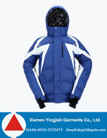 High End Ski Mountain Climbing Down Jackets With Windproof Detachable Hooded