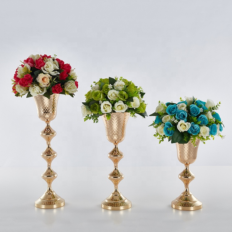 large diameter Successively high vase for latest decoration wedding