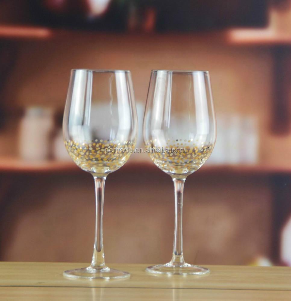 Gravé Verre À Vin À Longue Tige Avec Décalque Décoratif Buy Coupe En Verre À Vin Gravé,Gobelet À Vin Gravé À La Longue Tige,Verrerie À Vin