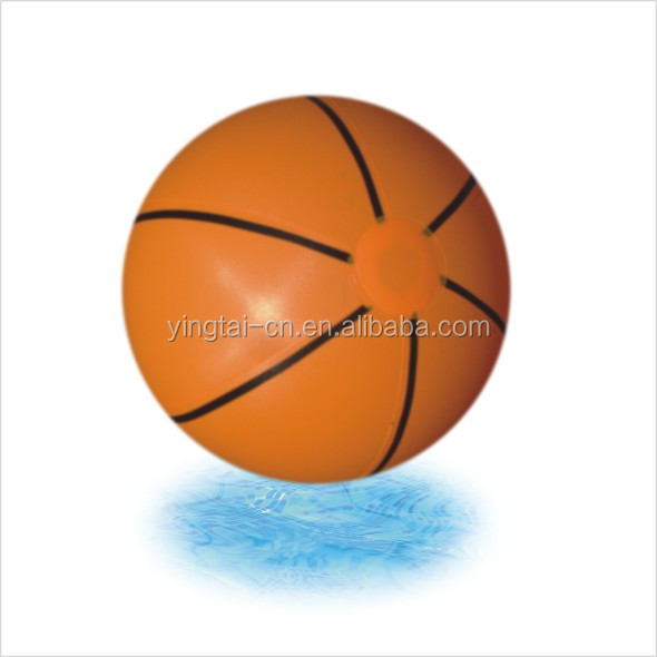 promotional customized printed basketball inflatable beach ball