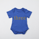 New Fashion 100% Cotton White Funny Baby Romp Number Gold Stamp Organic Clothes Wholesale