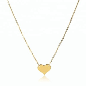 fashion women gold heart charm pendant necklace