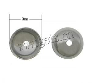 bead caps 3mm 304 Stainless Steel Dome plated more colors for choice 3x1.2mm Hole:Approx 0.8mm 775224