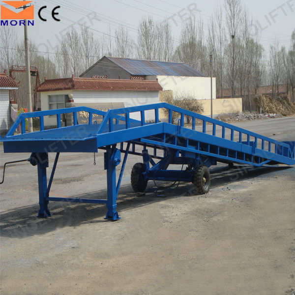 10t capacity hydraulic mobile ramp