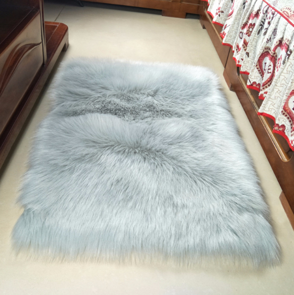 Faux Fur Area Rug Baby Bedroom Rugs Fluffy Home Decorative Shaggy Rectangle  Carpet 4x6 Feet White With Grey Top - Buy Fur Wool Sheepskin Car Seat ...