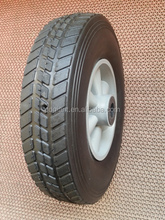 10 inch plastic rim semi-pneumatic solid rubber wheel for toys, hand trucks, tool carts
