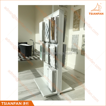 Display Stand Manufacturer Showroom Glass Mosaic Tile Display Wall System for Tile Display Boards