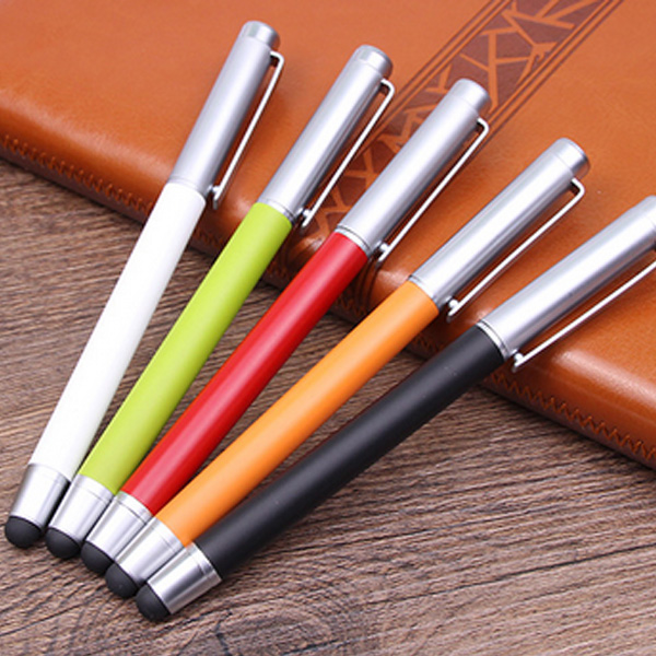 Decoration smartphone custom logo roller stylus pen with soft silicone
