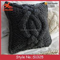 S1325 Hot sale wool twisted cable knit custom pillow case cover wholesale