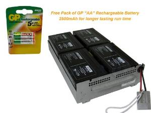 APC Replacement Cartridge #23 for APC SUA1000RM2U - Powerwarehouse with FREE GP Rechargeable AA NiMH Battery