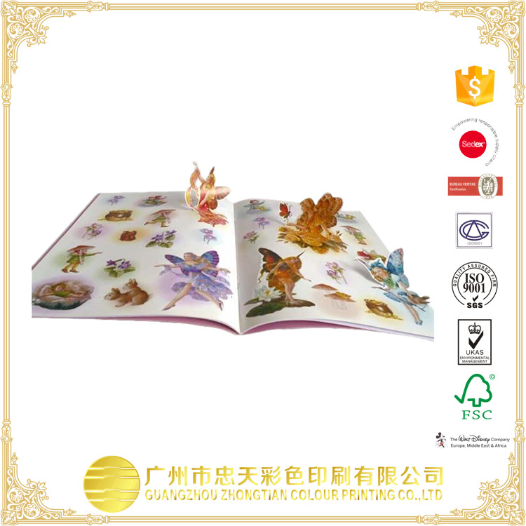 Butterfly pictures pop up books for children playing game