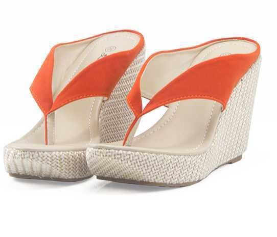32406c822a137 Get Quotations · 2015 women slides sandals shoes flip flops plus size 40 41  lambdoid platform wedges sandals high