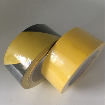 Waterproof Feature yellow and yellow-black PVC floor marking tape
