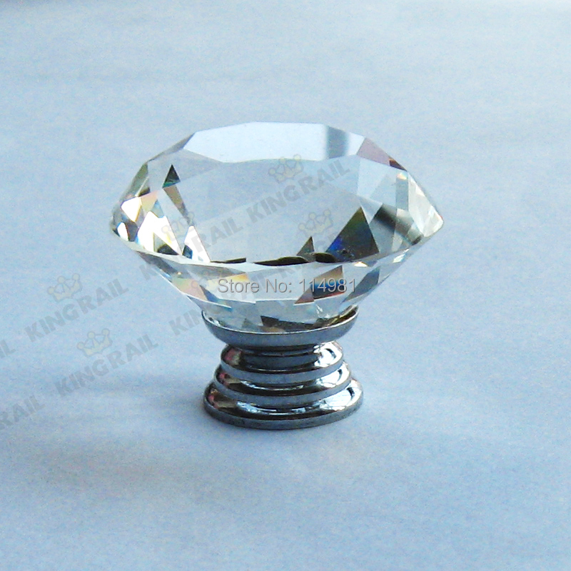 Glass Kitchen Cabinet Door Knobs: 1-pcs-40mm-Clear-Glass-Crystal-Kitchen-Cabinet-Knobs-And