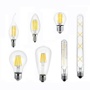 Retro Vintage Edison LED Bulb E27 E14 Filament LED Lamp 2W 3W 4W 6W 8W LED Filament Light Glass Bulb 220V 110V A60 ST64 C35 T30